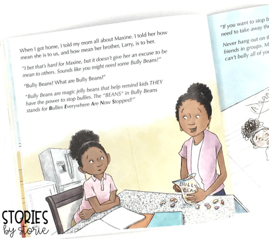 Bully B.E.A.N.S. by Julia Cook helps children identify bullying and offers strategies for those who are targets and bystanders.