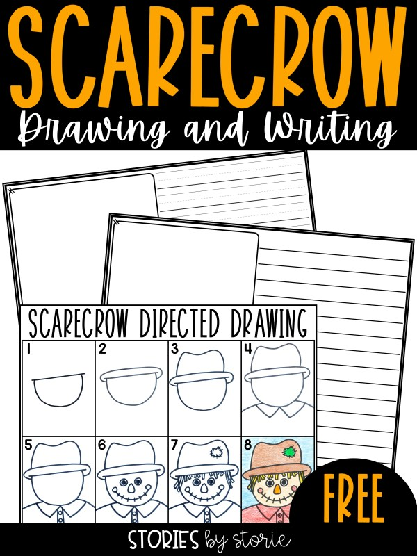After reading a few scarecrow books, students can draw their own scarecrow using this drawing guide. Students can also retell their favorite scarecrow book, write an original scarecrow story, create a scarecrow poem, or more!
