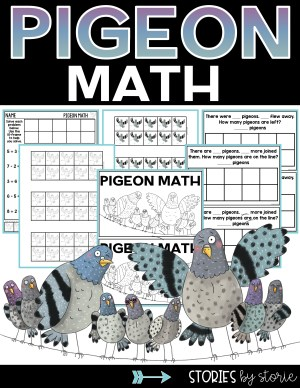 Pigeon Math - Addition and Subtraction Freebies