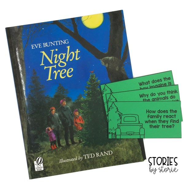 These 12 comprehension questions will help guide the discussion as you read Night Tree by Eve Bunting. Students can also respond to these questions in writing.