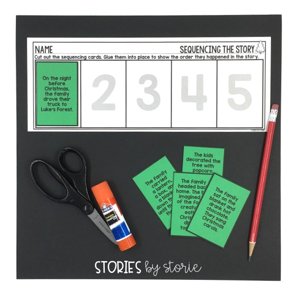 After reading Night Tree by Eve Bunting, students can put the story back together with this sequencing activity.