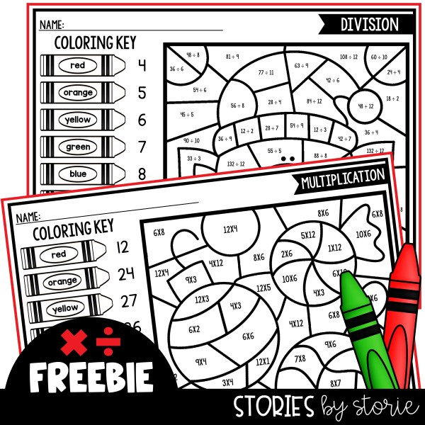 These Christmas coloring pages will bring a little calm into your classroom while still providing math practice.