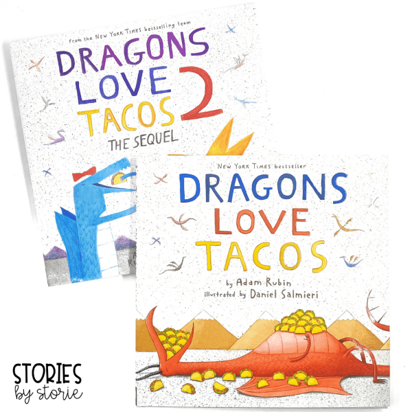 Kid absolutely love Dragons Love Tacos by Adam Rubin and Daniel Salmieri. Here are several activities you can pair with these entertaining books.