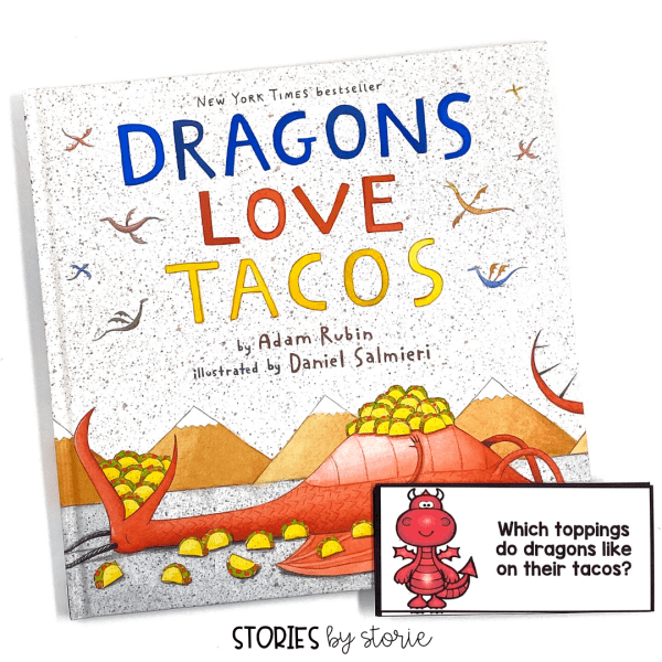 These comprehension questions will help guide your discussion as you read Dragons Love Tacos. These can be answered in writing, too.