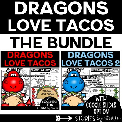 This Dragons Love Tacos book companion bundle contains comprehension questions, vocabulary practice, graphic organizers, a taco craft, a dragon directed drawing, and more!