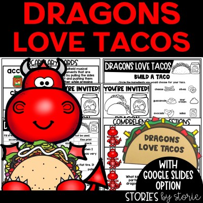 This Dragons Love Tacos book companion contains comprehension questions, vocabulary practice, graphic organizers, a taco craft, and more!