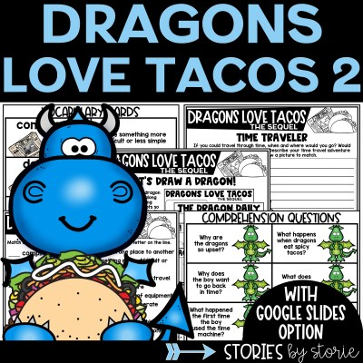 This Dragons Love Tacos 2: The Sequel book companion contains comprehension questions, vocabulary practice, graphic organizers, a dragon directed drawing, and more!