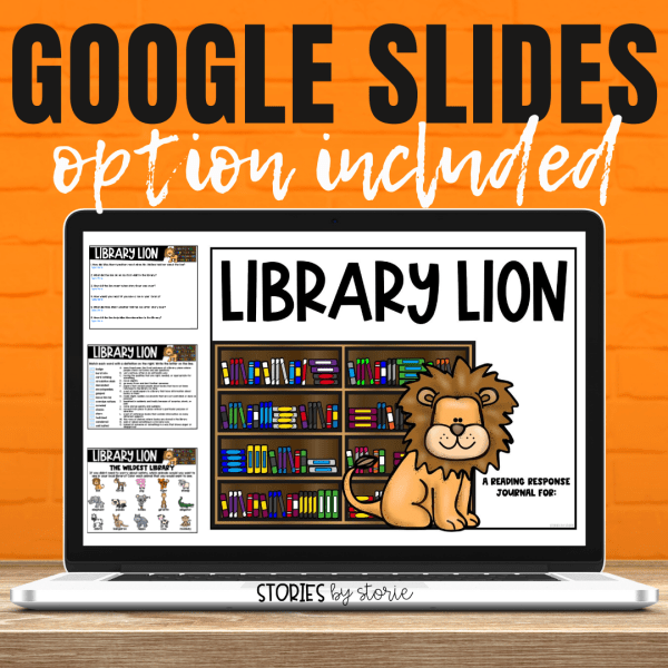 With many classrooms going digital, many of the Library Lion activities can be used digitally. This book companion contains a Google Slides link as well as a fillable PDF.