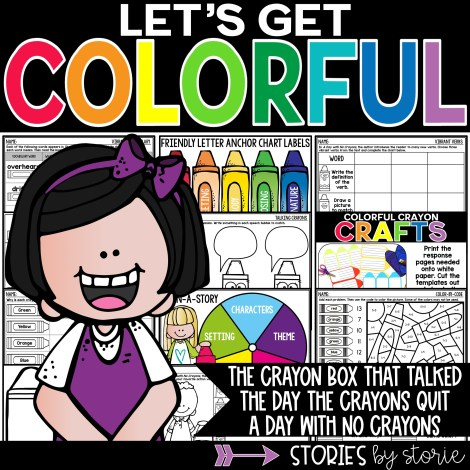 This book companion has activities for The Crayon Box That Talked, The Day the Crayons Quit, and a Day with No Crayons. You'll find a crayon writing craft, discussion questions, graphic organizers, and a handful of crayon-themed activities.
