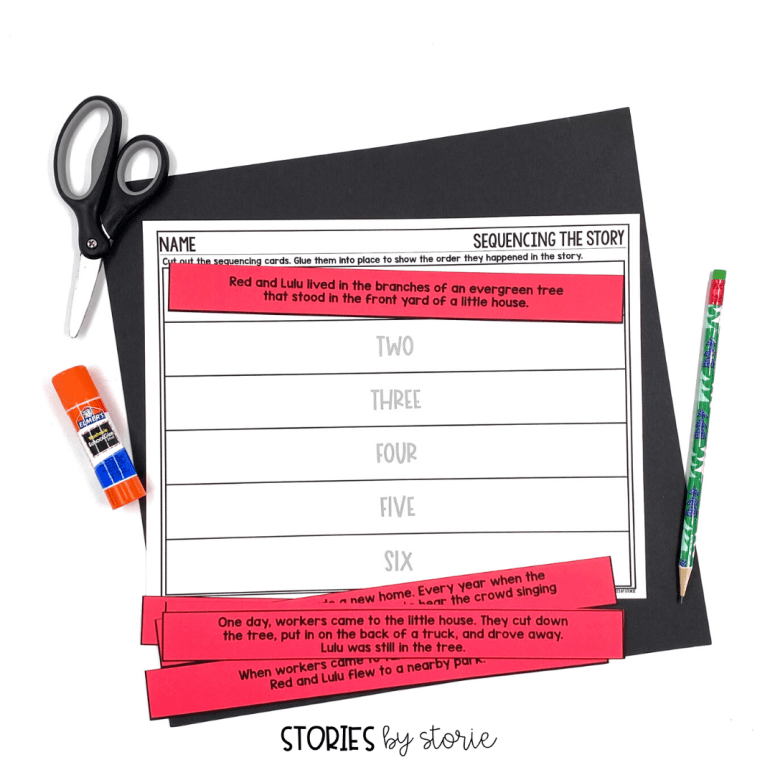 After reading Red and Lulu, students can put the story back together with this cut and paste sequencing activity.