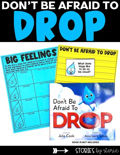 Are you reading Don't Be Afraid to Drop by Julia Cook? Be sure to grab these free activities that include discussion questions, an emotions activity, and a writing template.