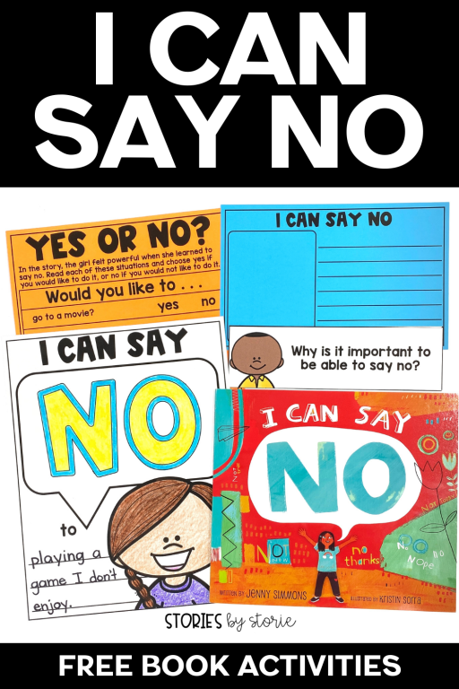 No is a very powerful word, but it isn't always easy to say. Learning to say no is an important step towards setting boundaries and protecting your energy, your beliefs, and your heart. I Can Say No is a great book to show kids that it's okay to say no without feeling guilty. Here are a few activities to pair with this book.