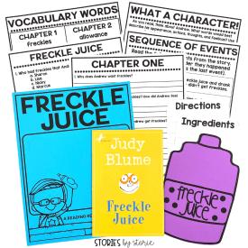 Freckle Juice Activities