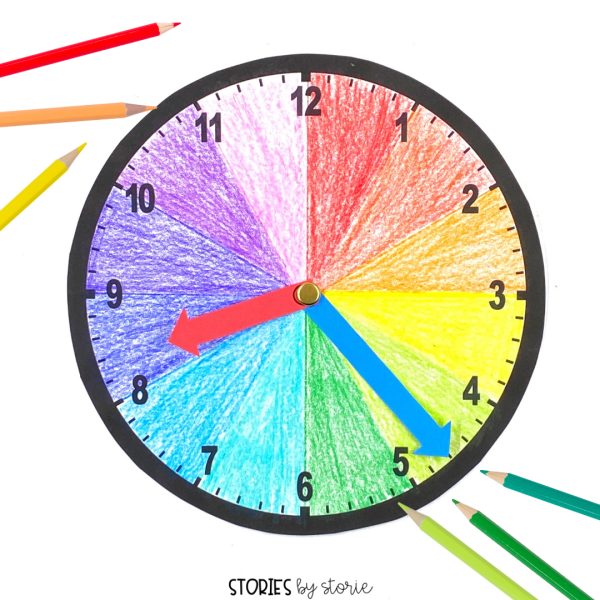 Telling time with the hour hand can be tricky for many kids. One way to combat this is to have students color-code their clocks. This helps them read the hour more easily as it moves between two numbers on the analog clock.
