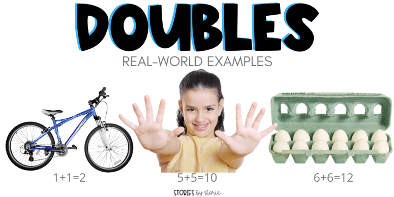 Let students look for doubles in the real world. They can walk around the school, or encourage them to walk around their house or neighborhood with a parent or guardian. Students can draw pictures or take photographs of doubles in action. These drawings or photos could be combined to make a class book about doubles.