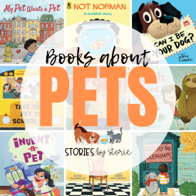 Here are some of my favorite pet books for kids. You'll find books about more traditional pets (dogs, cats, and goldfish), along with some lovable and humorous books about some unexpected pets (sharks, elephants, giraffes, and more).