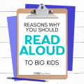 Reading aloud to a child doesn't need to stop once they have outgrown your lap. There are many academic and emotional benefits that come along with reading books to your kids as they get older. Here are several reasons why you should read aloud to big kids.
