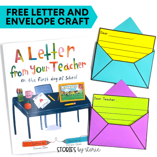 If you're looking for a great book to help set the tone for the new school year, try reading A Letter From Your Teacher on the First Day of School. After reading this book, your students can write a letter to you with this free letter and envelope craft.