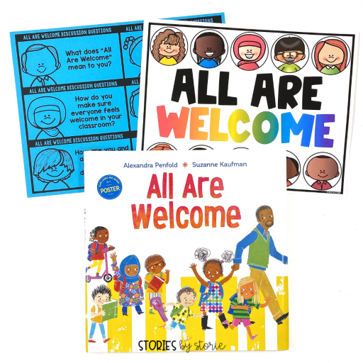 All Are Welcome is a great read aloud for back-to-school. Here are some discussion questions and a poster you can pair with this book.
