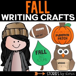 Books and writing crafts are a great combination. These six fall writing crafts are fun and make a great bulletin board display.