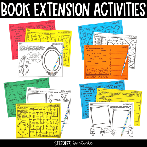 These book extension activities for The Food Group series allow your students to have fun with the characters and theme of each book.