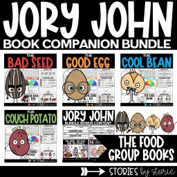 The Food Group books by Jory John and Pete Oswald are all very entertaining books for kids! This bundle includes book companions for The Bad Seed, The Good Egg, The Cool Bean, and The Couch Potato. These book companions contain comprehension questions, vocabulary activities, graphic organizers, sequencing activities, and writing crafts. These activities can help guide your students through the books. This bundle also includes a bonus resource with mini-packs for The Great Eggscape and The Good, the Bad, and the Spooky.