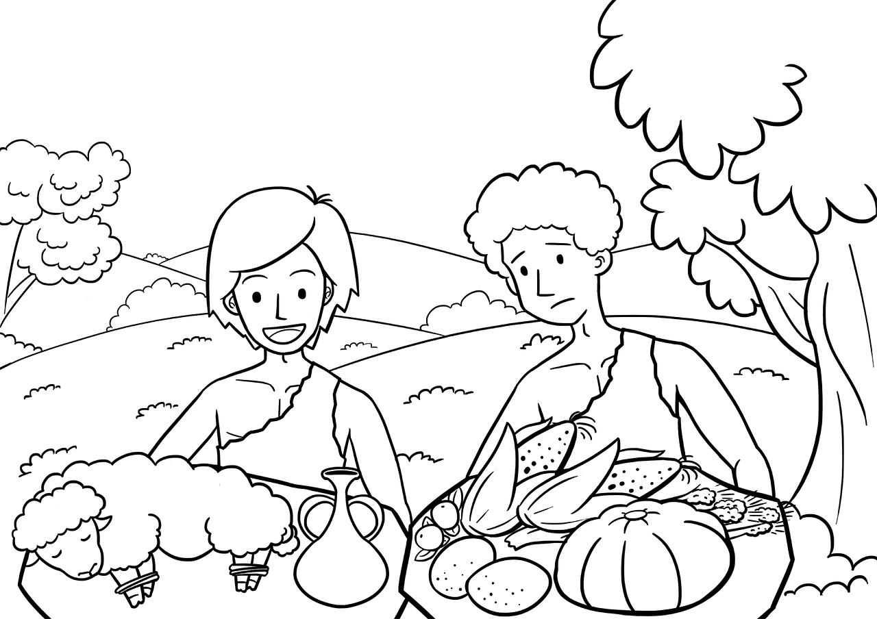 Sacrifice by Cain and Abel - pixabay.com