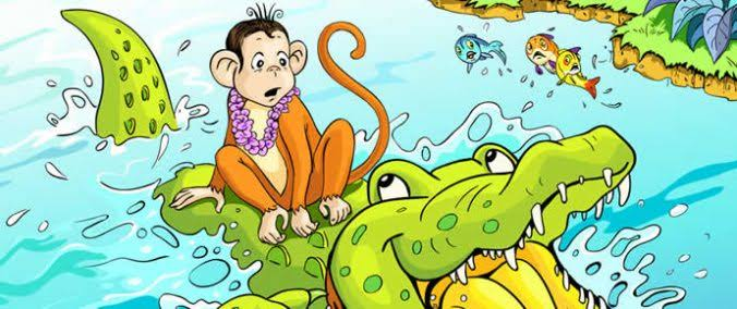 Monkey and The Crocodile Story