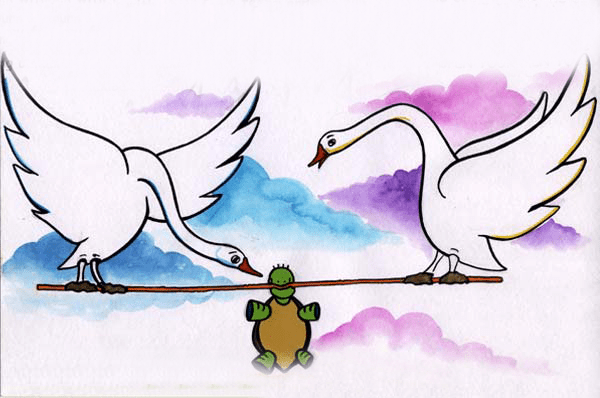 Swan and Turtle - Panchatantra Story in English