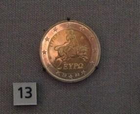 Modern Greek 2-euro coin.