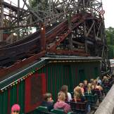Wooden rollercoaster