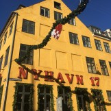 Christmas heart decorations in Nyhavn