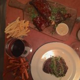 BBQ spare ribs and ribeye steak from Fedte Greven