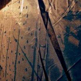 Tent mist at sunrise