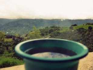 A cup of tinto with a view
