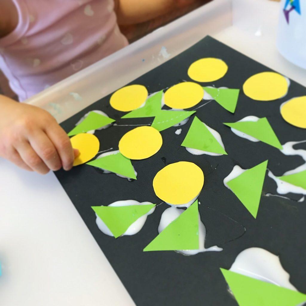 art supplies - paper shapes