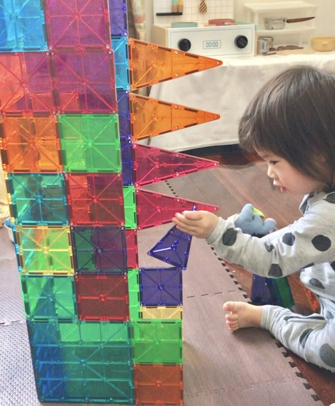 heuristic play with magnetic tiles