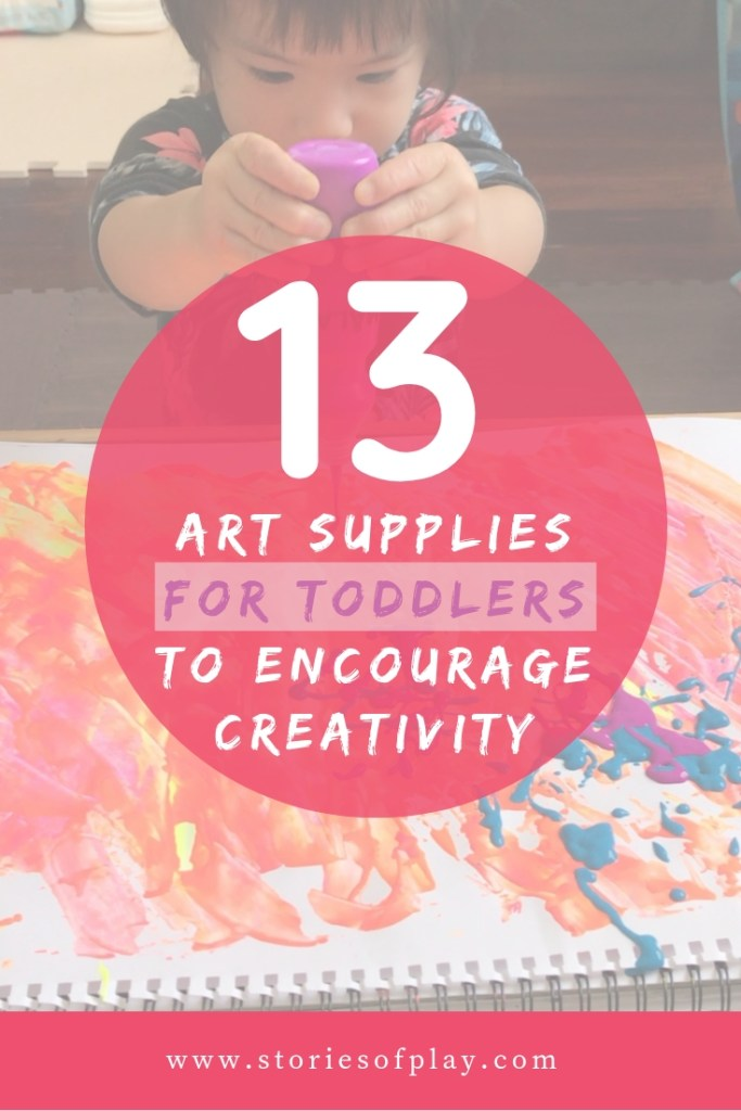 Art supplies for toddlers to encourage creativity