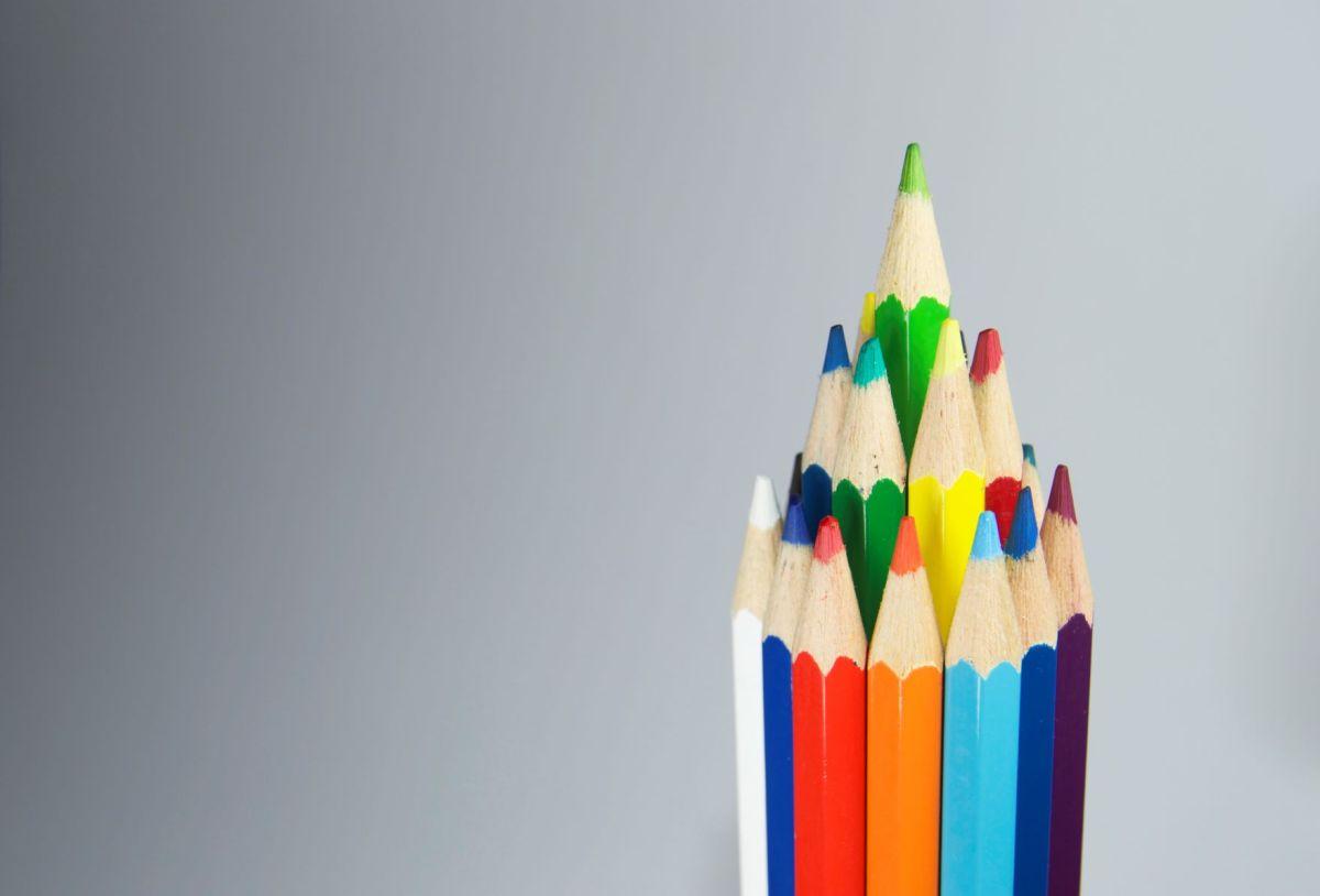 Pencils, creativity, colour, writing