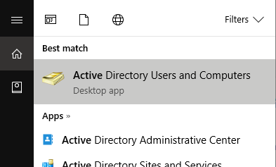 Active Directory Users And Computers