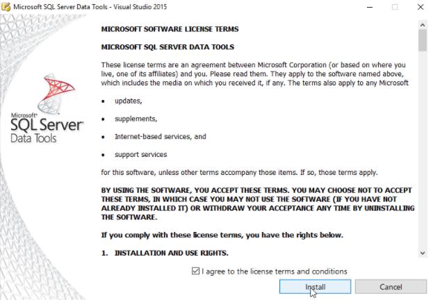 SQL Server Data Tools Install