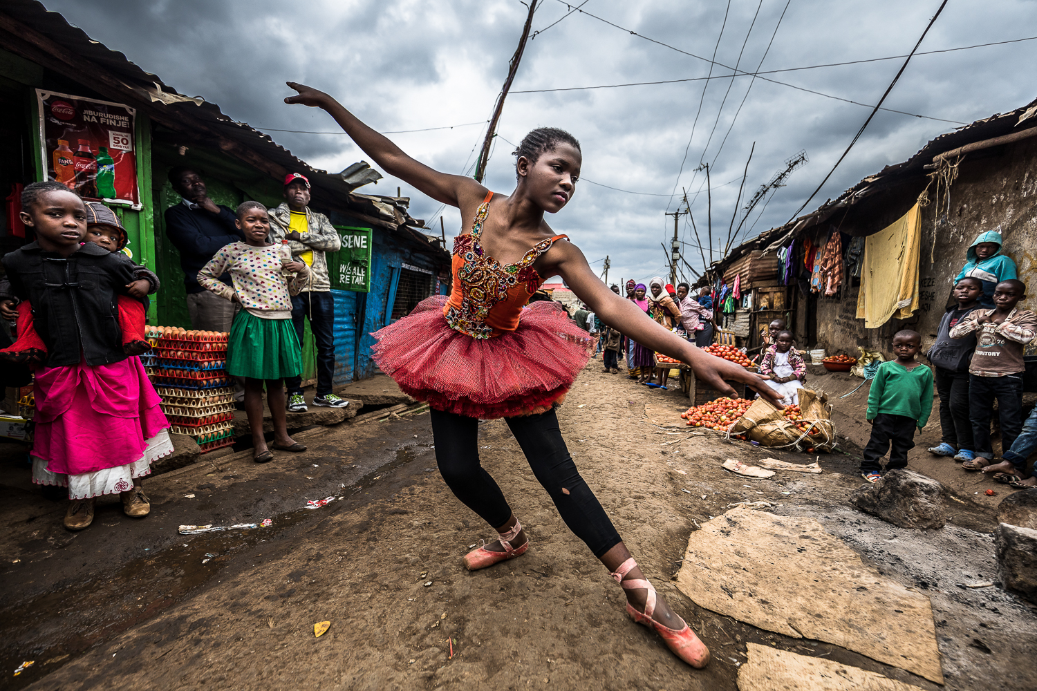 Elsie Ayoo, 16, a young passionate ballet dancer, trains along a