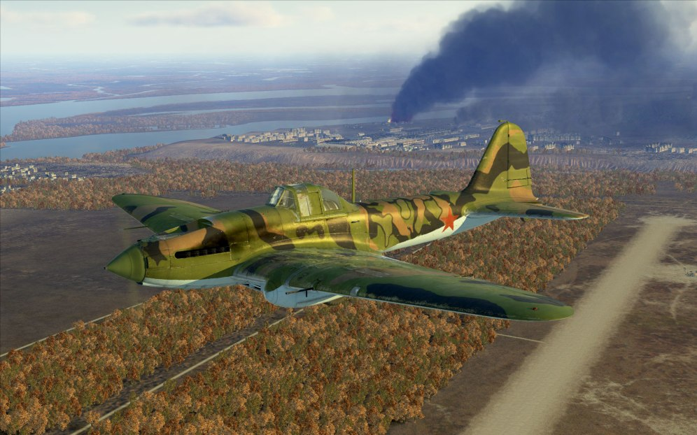 IL-2 Model 1942 heading for another mission.