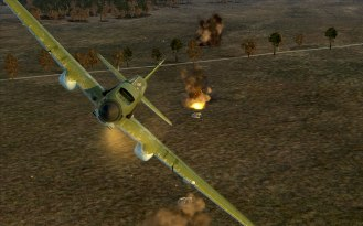 Ripple fire bombs land perfectly on the artillery emplacements