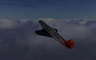 Free flight in the Yak-1B Series 127