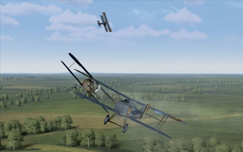 Its a tight battle as I pull in behind a D.III