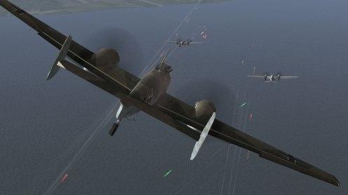 Bf110C-4 attacks some SB-2 bombers