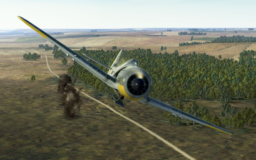 FW190A-5/U17 dropping a string of bombs