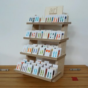 Tiered earring display filled