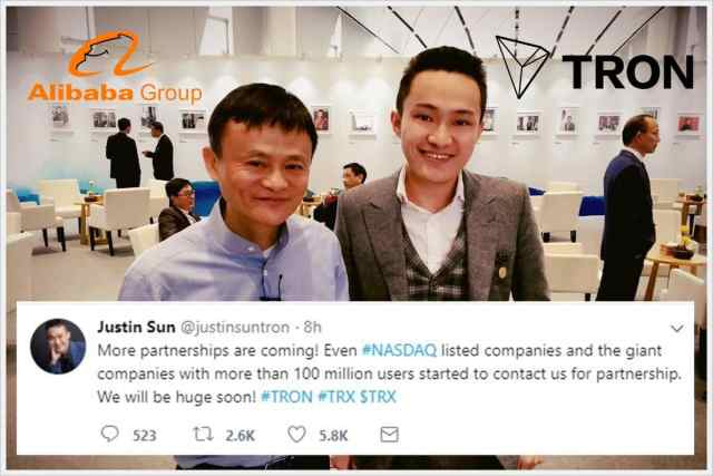 Justin Sun and his mentor, Jack Ma.